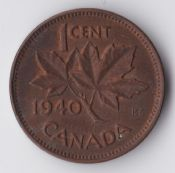 Canada, George VI, One Cent 1940, VF, WB1427